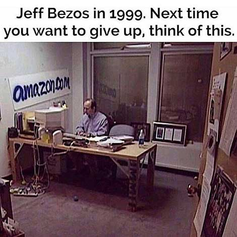 Jeff Bezos at Amazon office in 1999